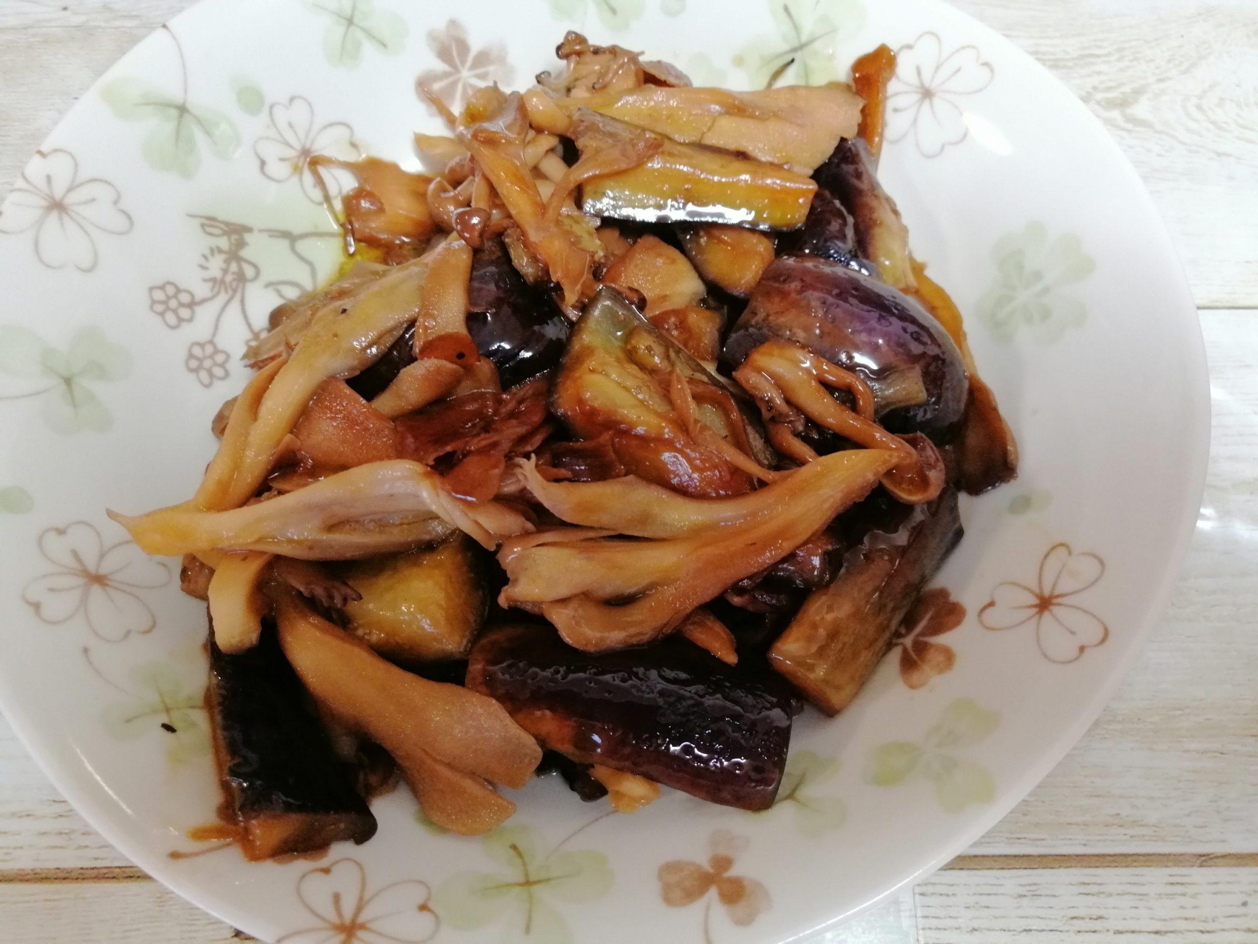 あかんぼとなすの油炒めレシピ