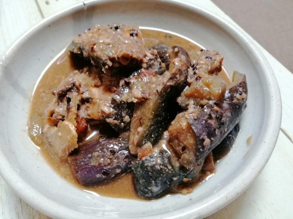 サバとなすの味噌煮