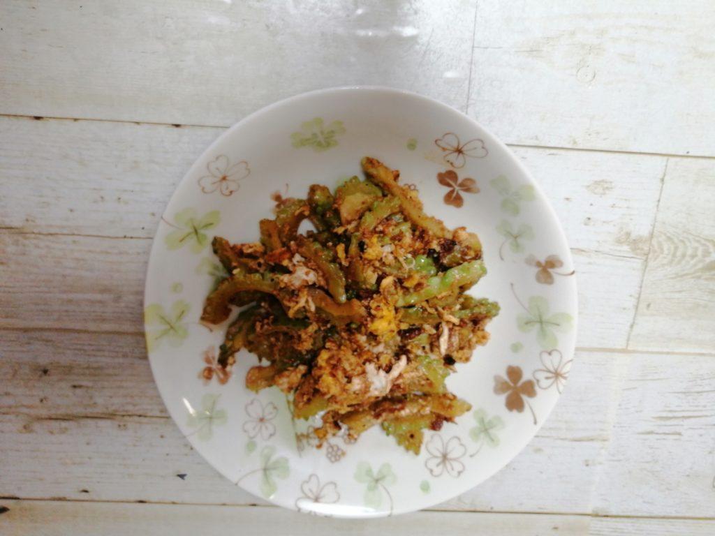 鹿児島県の郷土料理「にがごい(ゴーヤ)の油炒め」のレシピ