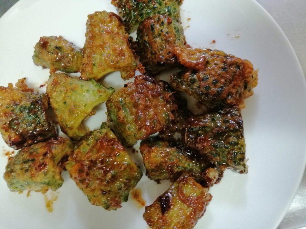 鹿児島県の郷土料理「にがごい(ゴーヤ)のかば焼き」レシピ